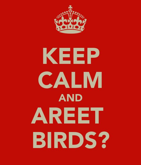 KEEP CALM AND AREET  BIRDS?