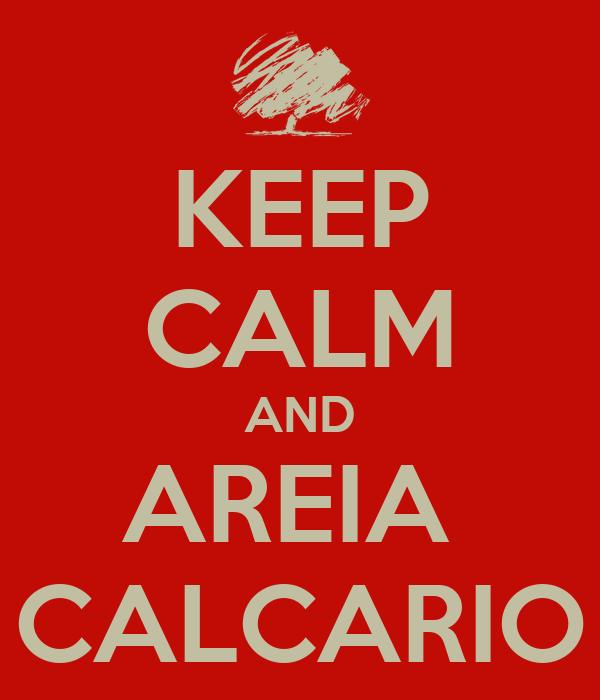 KEEP CALM AND AREIA  CALCARIO