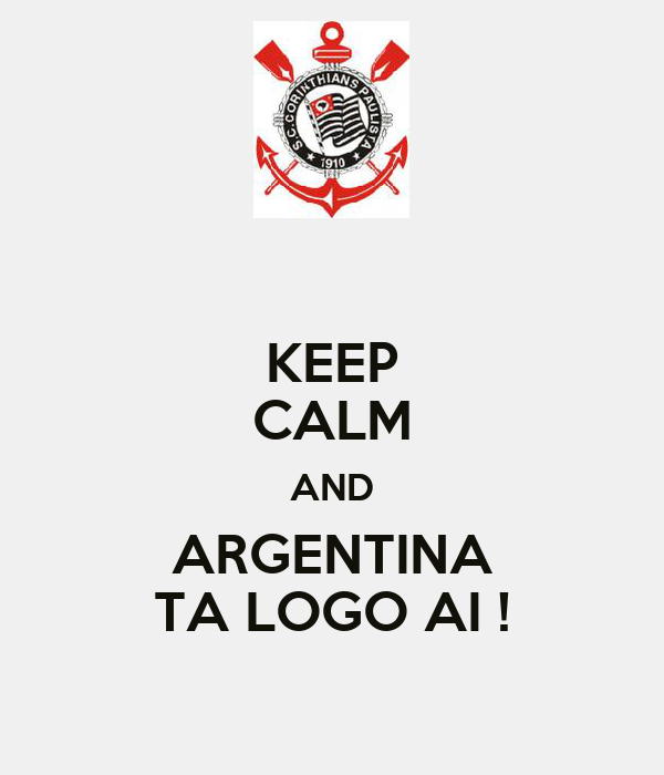 KEEP CALM AND ARGENTINA TA LOGO AI !