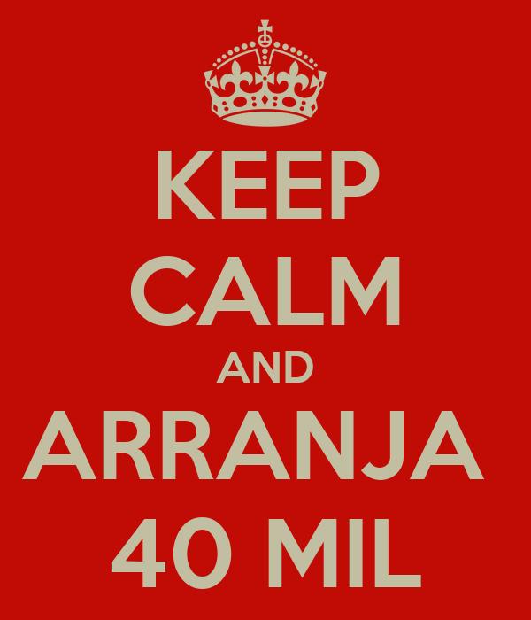 KEEP CALM AND ARRANJA  40 MIL