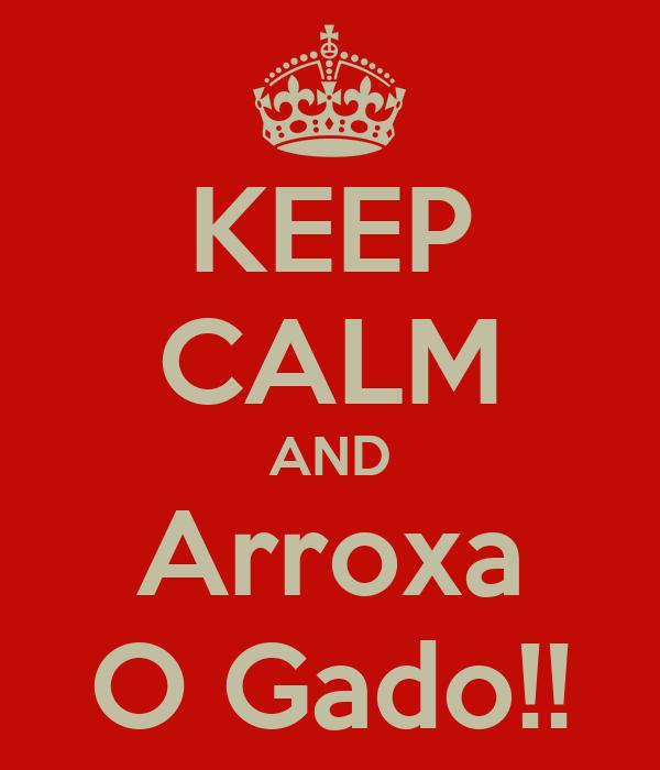 KEEP CALM AND Arroxa O Gado!!