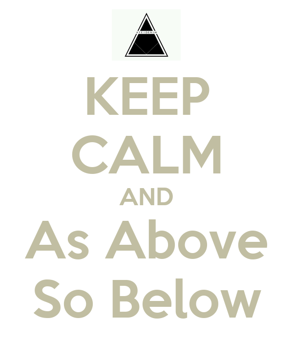 KEEP CALM AND As Above So Below