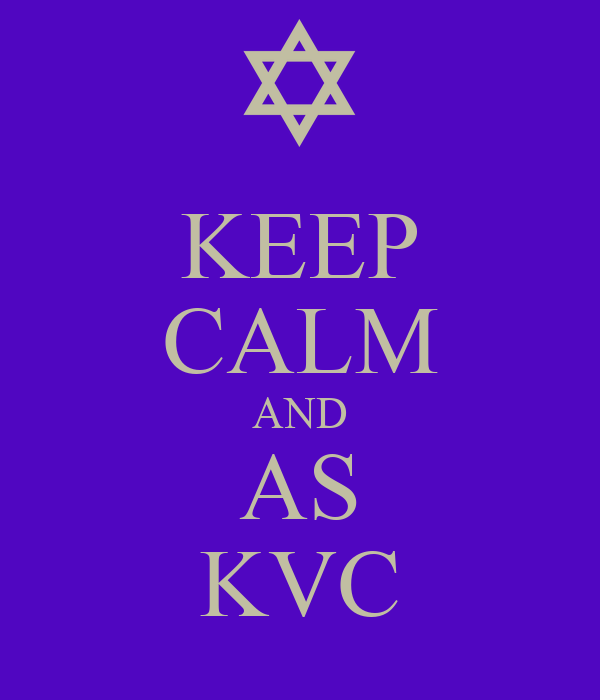 KEEP CALM AND AS KVC
