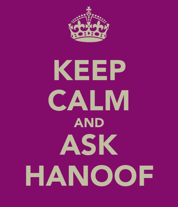 KEEP CALM AND ASK HANOOF