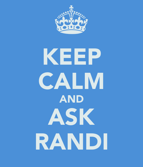 KEEP CALM AND ASK RANDI