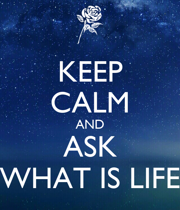 KEEP CALM AND ASK WHAT IS LIFE