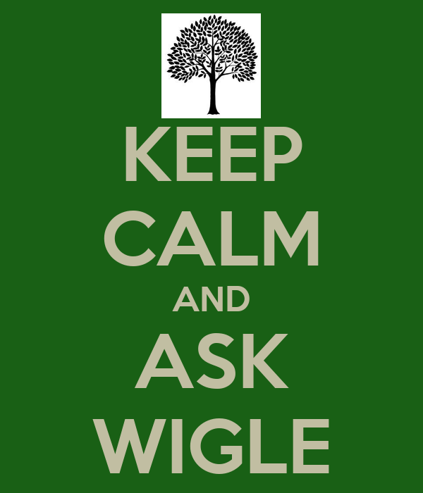 KEEP CALM AND ASK WIGLE