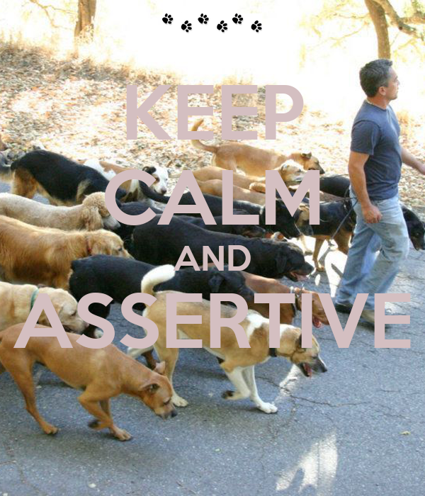 KEEP CALM AND ASSERTIVE