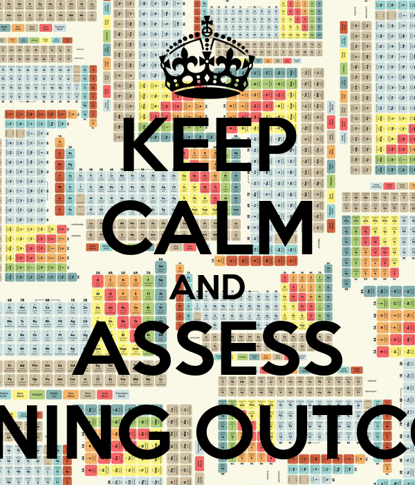 KEEP CALM AND ASSESS LEARNING OUTCOMES