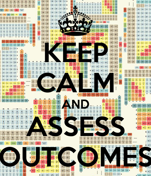 KEEP CALM AND ASSESS OUTCOMES