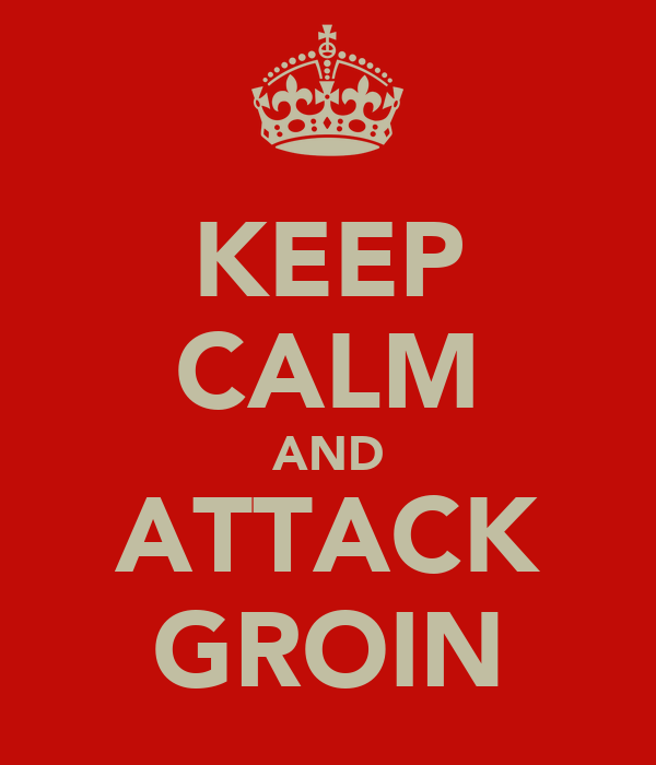 KEEP CALM AND ATTACK GROIN