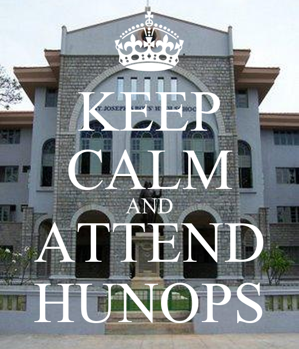 KEEP CALM AND ATTEND HUNOPS