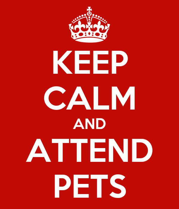 KEEP CALM AND ATTEND PETS