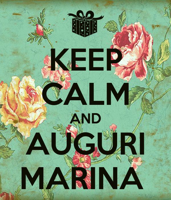 KEEP CALM AND AUGURI MARINA