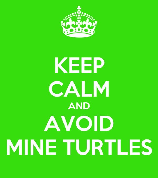KEEP CALM AND AVOID MINE TURTLES