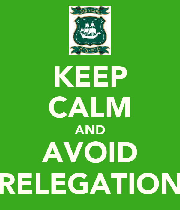 KEEP CALM AND AVOID RELEGATION