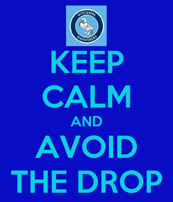 KEEP CALM AND AVOID THE DROP