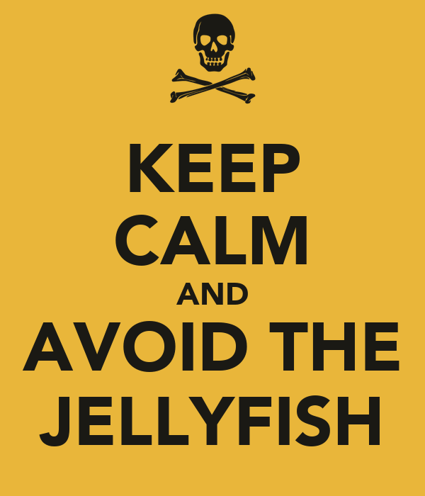 KEEP CALM AND AVOID THE JELLYFISH