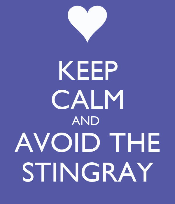 KEEP CALM AND  AVOID THE STINGRAY