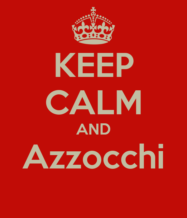 KEEP CALM AND Azzocchi