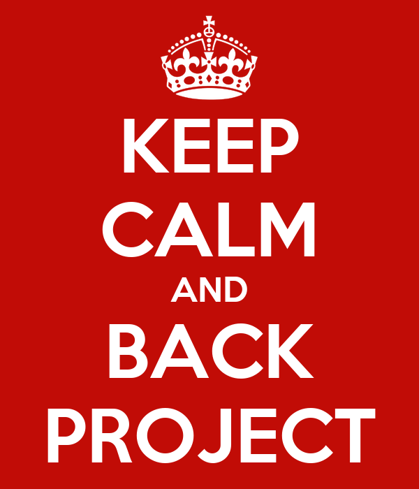 KEEP CALM AND BACK PROJECT