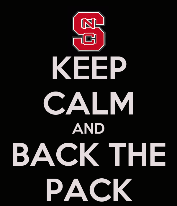 KEEP CALM AND BACK THE PACK