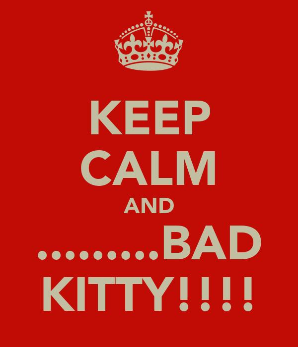 KEEP CALM AND .........BAD KITTY!!!!