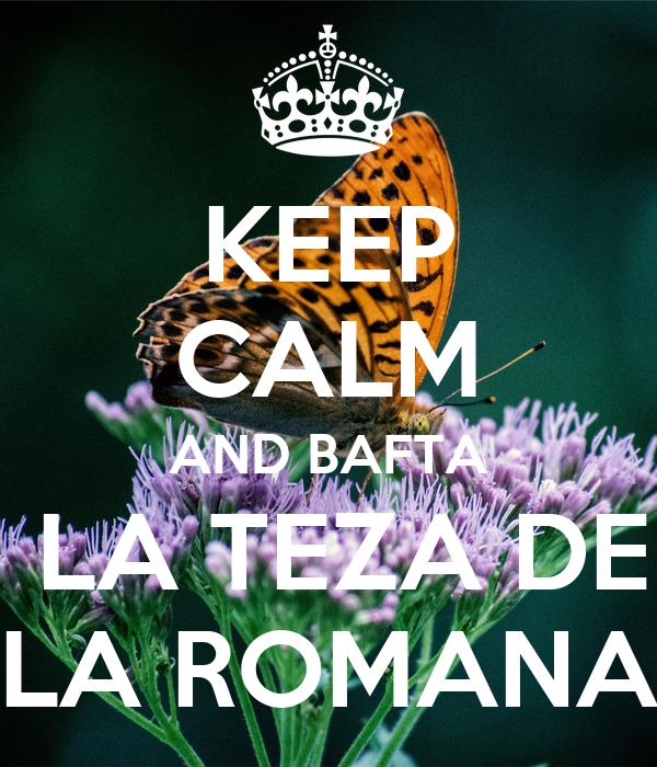 KEEP CALM AND BAFTA  LA TEZA DE LA ROMANA