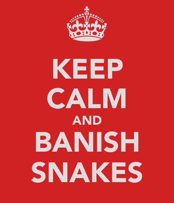 KEEP CALM AND BANISH SNAKES