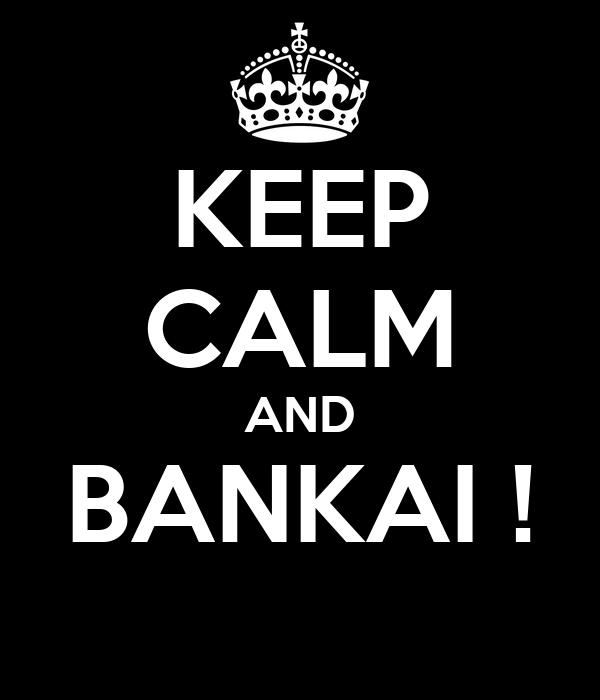 KEEP CALM AND BANKAI !