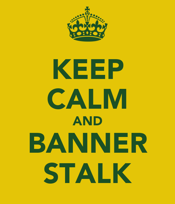 KEEP CALM AND BANNER STALK