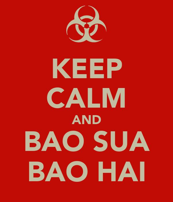 KEEP CALM AND BAO SUA BAO HAI