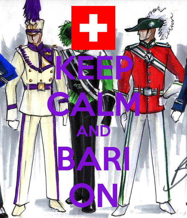 KEEP CALM AND BARI ON