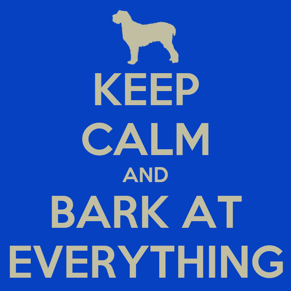 KEEP CALM AND BARK AT EVERYTHING