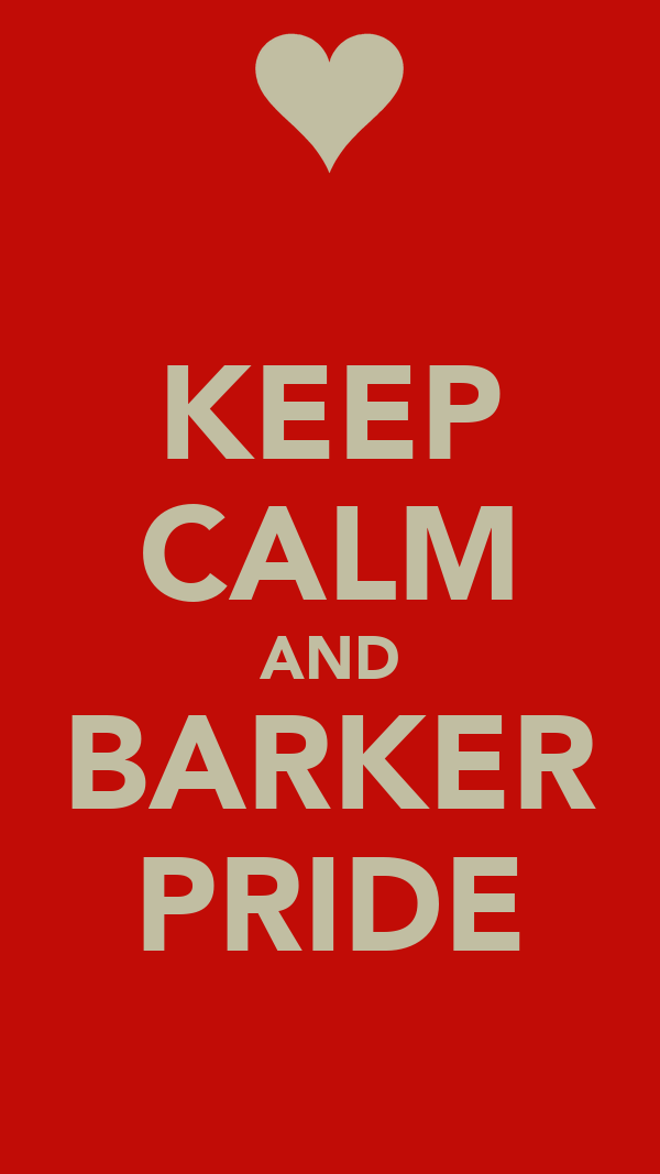 KEEP CALM AND BARKER PRIDE