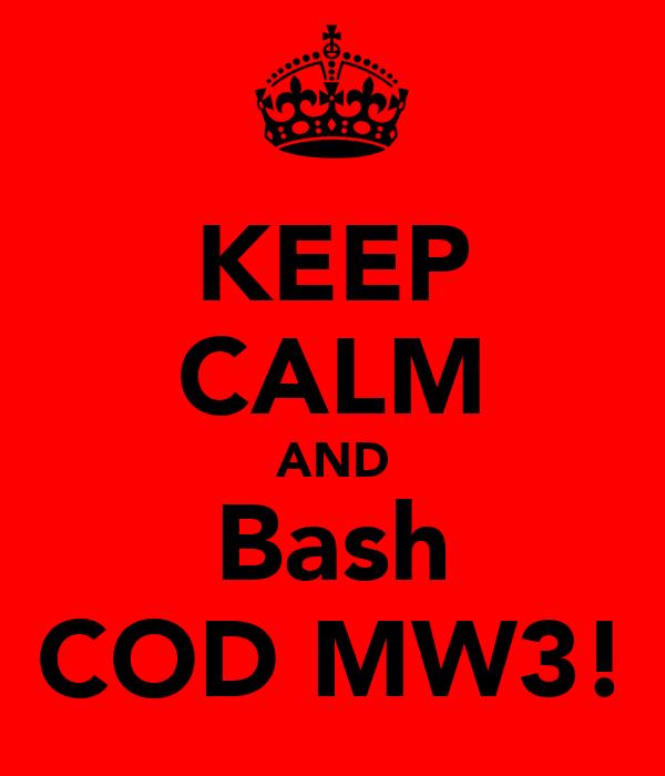 KEEP CALM AND Bash COD MW3!