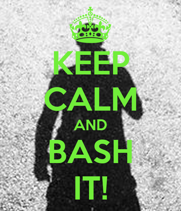 KEEP CALM AND BASH IT!