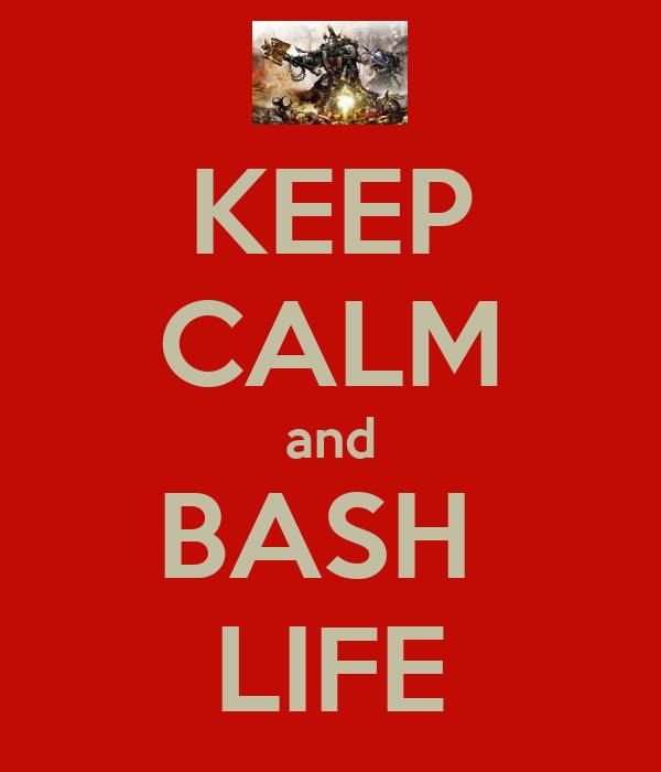 KEEP CALM and BASH  LIFE