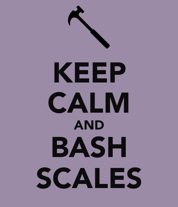 KEEP CALM AND BASH SCALES