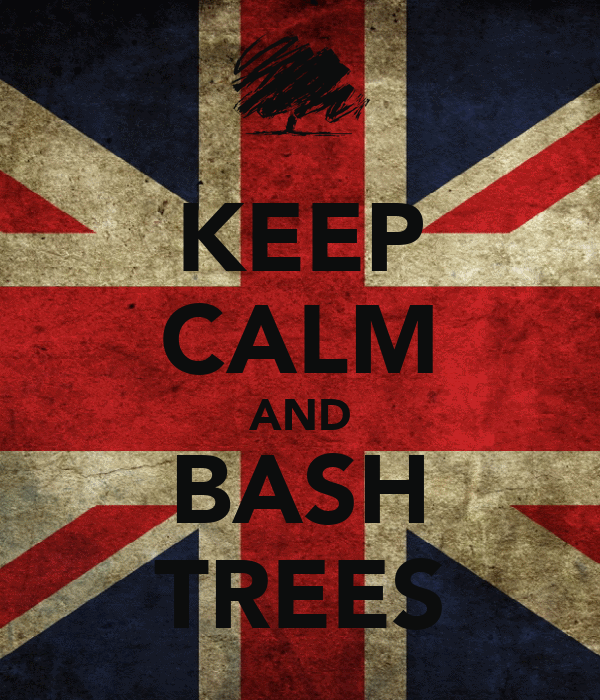 KEEP CALM AND BASH TREES