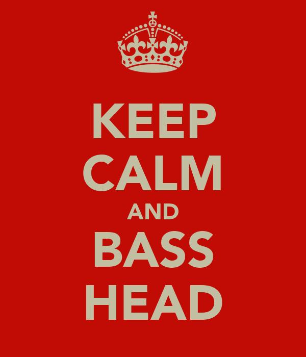 KEEP CALM AND BASS HEAD