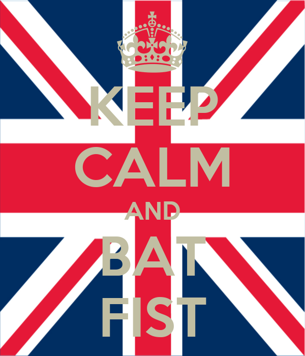 KEEP CALM AND BAT FIST