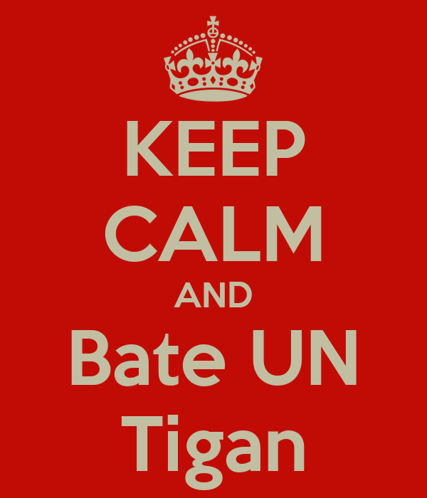 KEEP CALM AND Bate UN Tigan