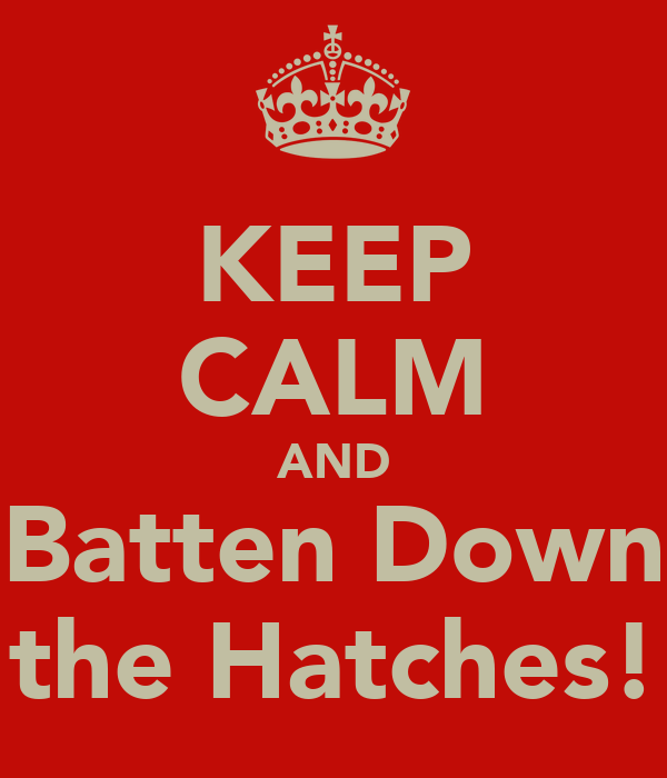 Keep Calm And Batten Down The Hatches Poster Sharyl