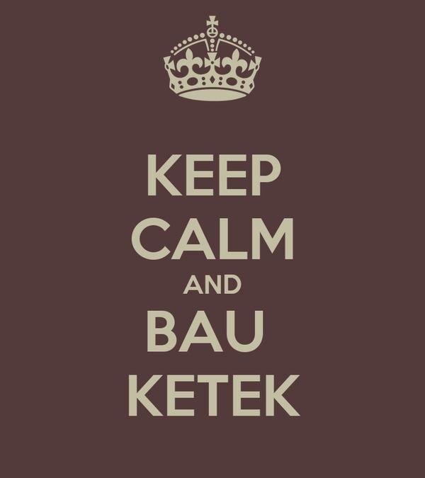 KEEP CALM AND BAU  KETEK