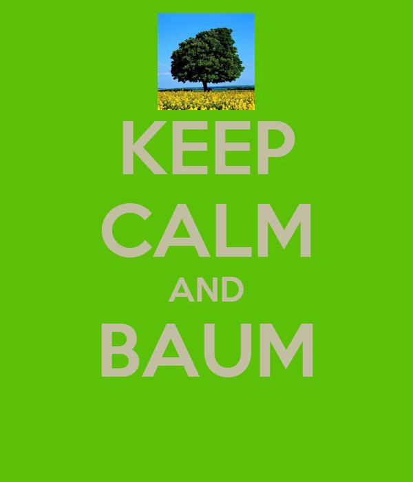 KEEP CALM AND BAUM