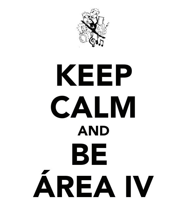 KEEP CALM AND BE  ÁREA IV