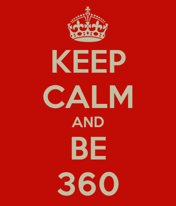 KEEP CALM AND BE 360