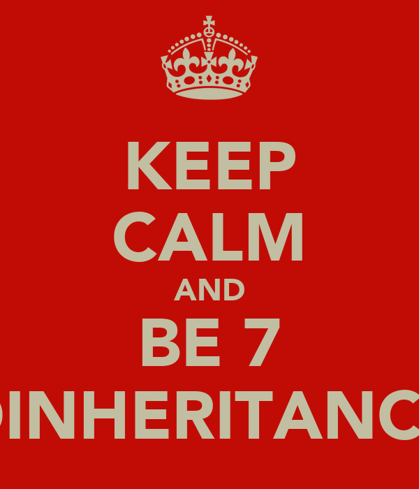 KEEP CALM AND BE 7 DINHERITANCE