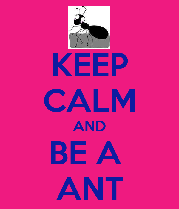 KEEP CALM AND BE A  ANT